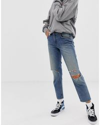 Cheap Monday Revive 90s Crop Jean With Recycled & Organic Blend Cotton - Blue