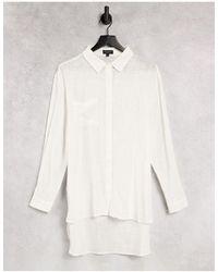 South Beach Camicia da mare comoda crema - Bianco