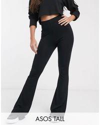 ASOS Asos Design Tall Basic Kick Flare leggings - Black