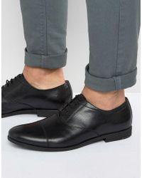 Vagabond Linhope Oxford Toe Cap Shoes - Black