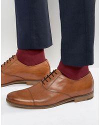 Vagabond Linhope Oxford Toe Cap Shoes - Brown