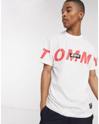 Tommy Hilfiger - Bold Cross Front Logo T-shirt Relaxed Fit - Lyst