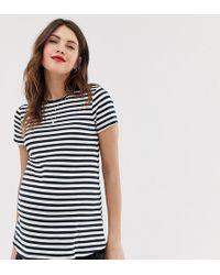 4fed0813c8162 ASOS - Asos Design Maternity T-shirt With Crew Neck In Stripe - Lyst