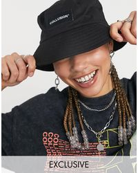Collusion Unisex Bucket Hat With Logo Patch - Black