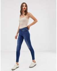 ONLY Skinny Jeans Met Hoge Taille - Blauw