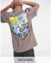 Reclaimed (vintage) Светло-бежевая Футболка С Художественным Принтом На Спине Inspired-бежевый - Многоцветный