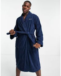 GANT Towelling Dressing Gown - Blue
