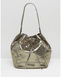 Silvian Heach - Frame Clutch Bag In Metallic - Lyst