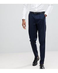 SELECTED - Tapered Smart Trousers In Texture - Lyst