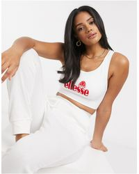 Ellesse Seamfree Bra With Criss Cross Back - White