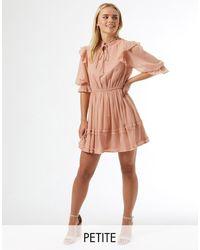 Miss Selfridge Petite Dobby Mini Dress - Pink