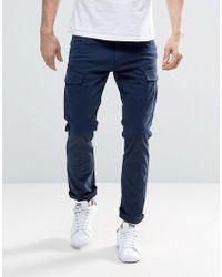 Esprit Cargo Pant In Slim Fit - Blue