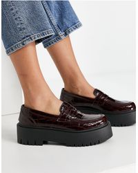 TOPSHOP Platform Loafers - Purple