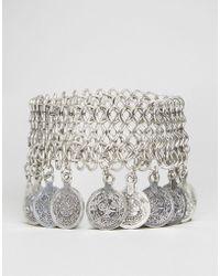 Ruby Rocks - Statement Coin Detail Bracelet - Lyst