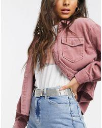 ASOS Mesh Waist And Hip Jeans Belt - Metallic