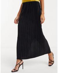 Weekday Falda midi negra plisada Wass - Negro