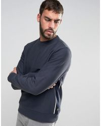 PS by Paul Smith - Crew Sweatshirt Side Piping In Navy - Lyst