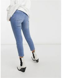 Vero Moda Joana Cropped Mom Jeans - Blue