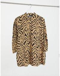 ASOS - Long Sleeve Oversized Shirt - Lyst