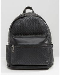 Liquorish | Black Textured Backpack | Lyst
