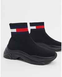 Tommy Hilfiger Черные Кроссовки На Массивной Подошве -черный - Многоцветный