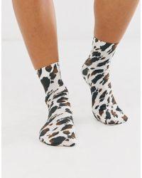 ASOS Cow Print Sock - Multicolour