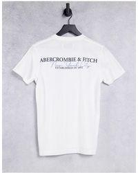 Abercrombie & Fitch - – T-Shirt mit Logoprint im Farbverlauf hinten - Lyst
