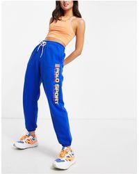 Polo Ralph Lauren Голубые Джоггеры С Логотипом Sports-голубой - Синий