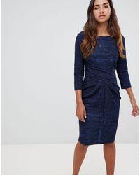 Closet Vestito a fascia con gonna drappeggiata - Blu