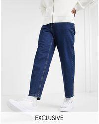 Reclaimed (vintage) Inspired - Jeans dritti anni '90 lavaggio sostenibile stone wash scuro - Blu