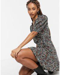 TOPSHOP Printed Wrap Dress - Multicolour