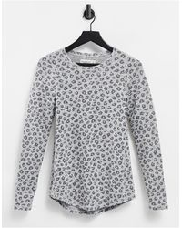 Abercrombie & Fitch T-shirt basique ras - Gris