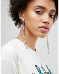 ASOS - Statement Disc And Jewel Strand Earrings - Lyst