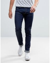 Edwin Ed-85 Slim Tapered Drop Crotch Jeans Rinsed Wash - Blue