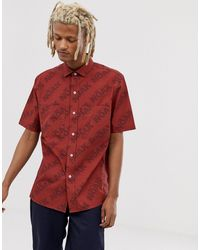 Noak Shirt With Patch Pockets - Red