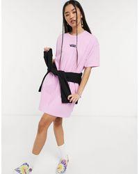 Vans Фиолетовое Платье-футболка Centre V-фиолетовый Цвет - Пурпурный