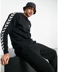 Hummel Sweat-shirt classique à chevrons - Noir