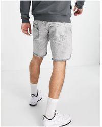 Good For Nothing Denim Shorts - Grey