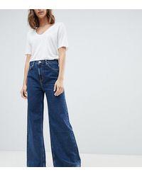 Weekday Ace - Jeans Met Wijde Pijpen Van Biologisch Katoen - Blauw