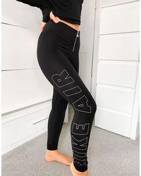 Nike Черные Леггинсы С Молнией Air-черный