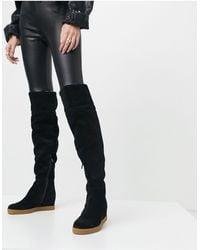 Calvin Klein Florencia Knee Boots - Black