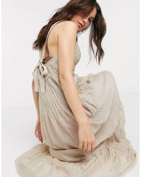 Free People Frankie Pintuck Maxi Dress - Natur