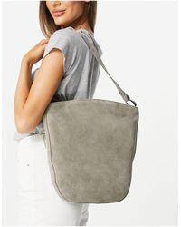 Urbancode Suede Shoulder Bag - Grey