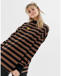 Lazy Oaf Oversized Long Sleeved Top - Brown