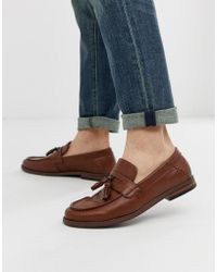 New Look Faux Leather Tassel Loafers In Tan - Brown