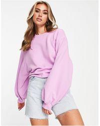 UGG Brook Balloon Sleeve Crewneck Sweater - Purple