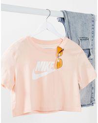 Nike Futura - Cropped T-shirt Met Logo - Roze