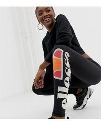 Ellesse Leggings mit Logo-Print auf dem Bein - Schwarz