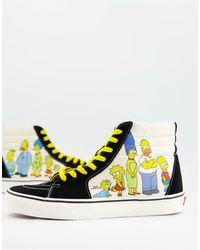 Vans X The Simpsons – Sk8 Hi – Bunte Sneaker - Mehrfarbig
