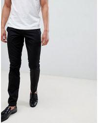 HUGO - Slim Fit Chino In Black - Lyst